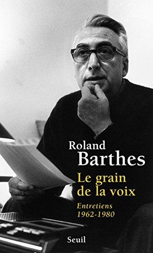 9782020057967: Le Grain de la voix : Entretiens, 1962-1980