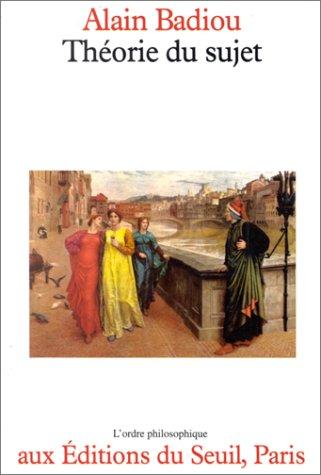 9782020061155: Théorie du sujet (L'Ordre philosophique) (French Edition)
