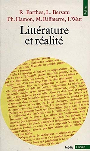 Littérature et réalité (Points essais) (French Edition): Barthes, Roland