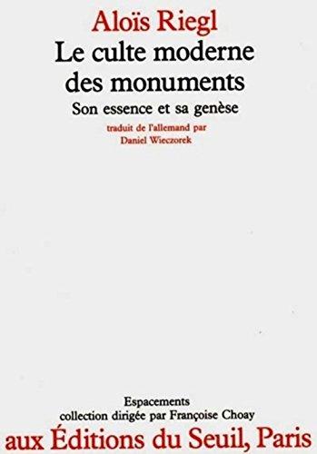 9782020068215: Le culte moderne des monuments. Son essence et sa gen�se