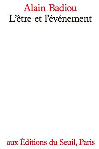 9782020098625: L'Être et l'évènement (L'ordre philosophique)