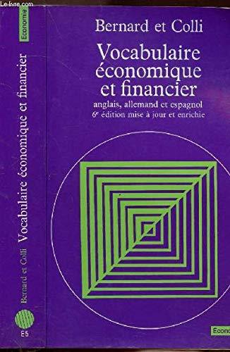 9782020105347: Vocabulaire economique et financier anglais, allemand, espagnol