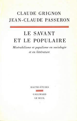 Savant / Populaire (Hautes etudes) (French Edition): GRIGNON