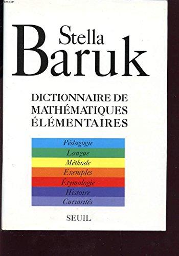 9782020123341: Dictionnaire de Mathematiques Elementaires