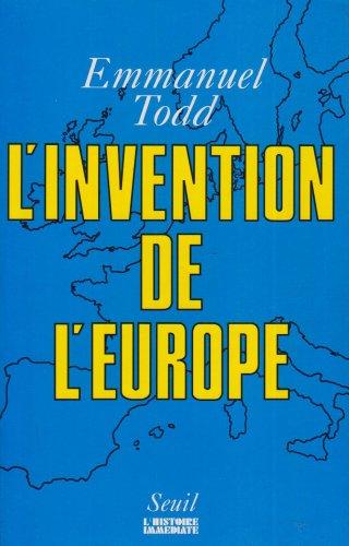 9782020124157: L'invention de l'Europe (L'histoire imm�diate)