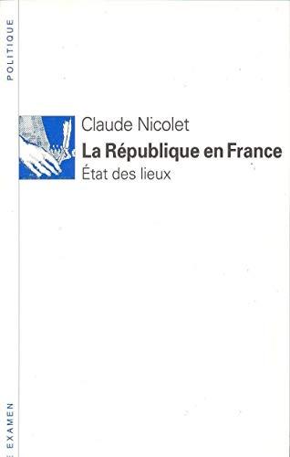 9782020128445: La République en France: Etat des lieux (Libre examen) (French Edition)