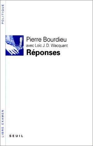 9782020146753: REPONSES. Pour une anthropologie réflexive