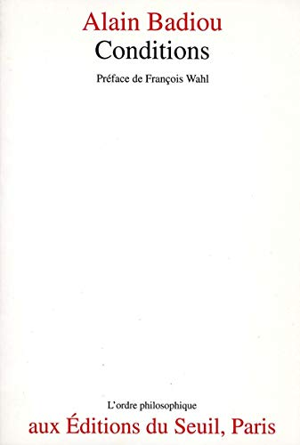 9782020182591: Conditions (L'Ordre philosophique) (French Edition)