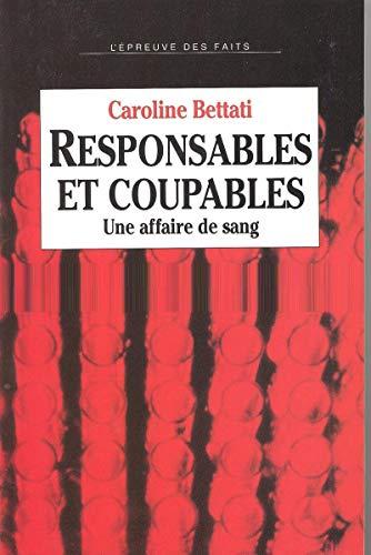9782020199810: Responsables et Coupables. Une affaire de sang