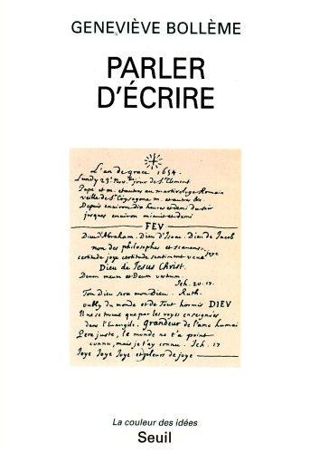 9782020202497: Parler d'écrire (La Couleur des idées) (French Edition)