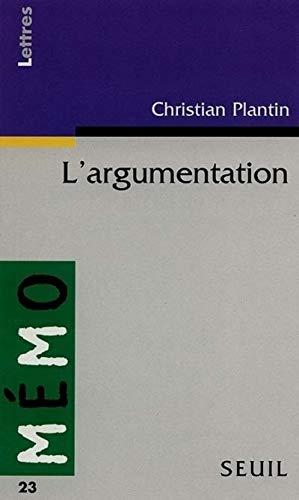 9782020229562: L'argumentation