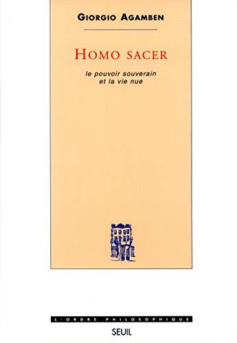 9782020256452: Homo sacer. 1, Le pouvoir souverain et la vie nue