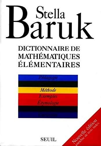 9782020260282: Dictionnaire de mathématiques élémentaires. : Pédagogie, langue, méthode, exemples, étymologie, histoire, curiosités (Science ouverte)