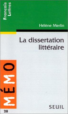 9782020261470: La dissertation littéraire