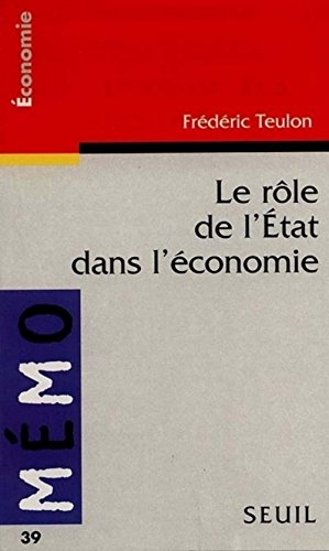 9782020264372: Le rôle de l'État dans l'économie