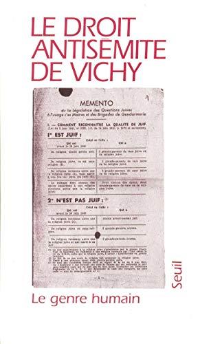 Le genre humain : 30-31, Vichy: Collectif