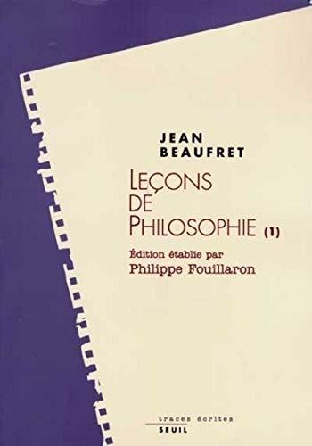 Lecons de philosophie (Traces ecrites) (French Edition): Beaufret, Jean
