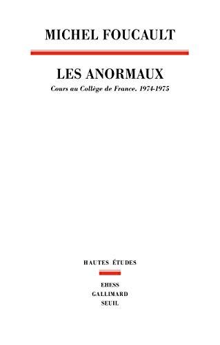 9782020307987: Les anormaux: Cours au Collège de France (1974-1975) (Hautes études)
