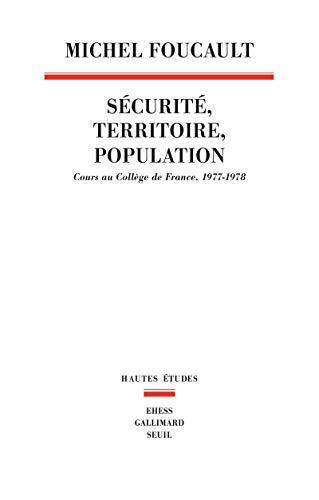 9782020307994: S�curit�, territoire, population : Cours au Coll�ge de France (1977-1978)