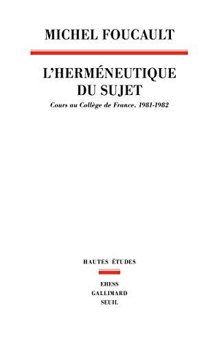 9782020308007: L'Hermeneutique du sujet : Cours au Coll�ge de France (1981-1982)