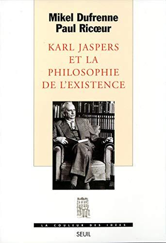 9782020345293: Karl Jaspers et la philosophie de l'existence