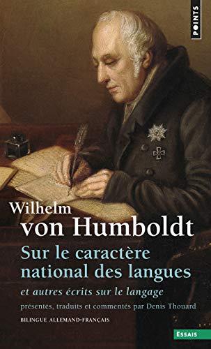 9782020367578: Sur le caractere national des langues ecrit sur le langage