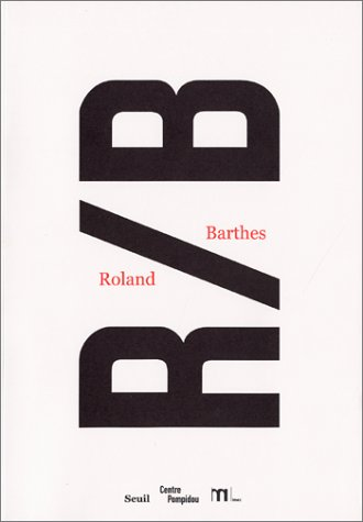 9782020567329: R/B, Roland Barthes