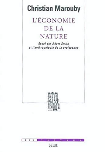 L'économie de la nature (French Edition): Christian Marouby