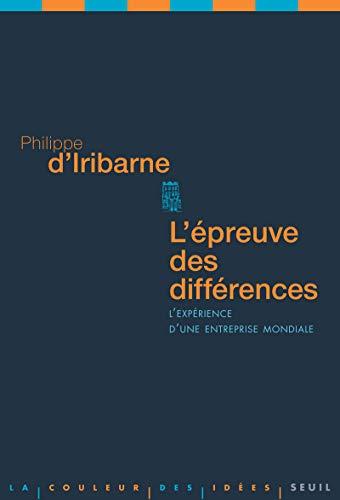 Epreuve des différences (L'): Iribarne, Philippe d'