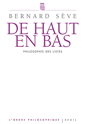 9782021011838: De haut en bas : Philosophie des listes