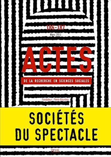 9782021040210: Actes de la recherche en sciences sociales, N° 186-187, Mars 201 (French Edition)