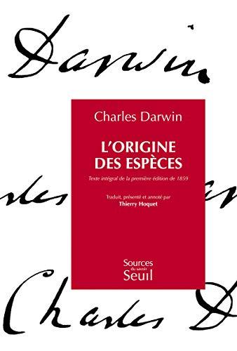 9782021059595: L'origine des espèces : Texte intégral de la première édition de 1859
