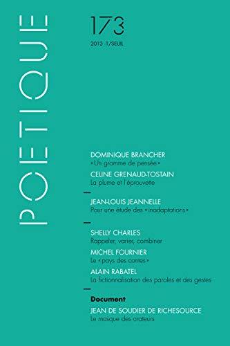 Poétique, no 173: Collectif