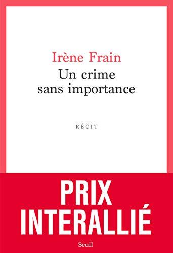 9782021455885: Un crime sans importance