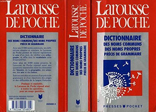 Larousse De Poche: Dictionnaire Noms Communs, Noms: Distribooks, Inc