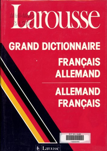 9782034513374: Grand dictionnaire français allemand [et allemand-français]