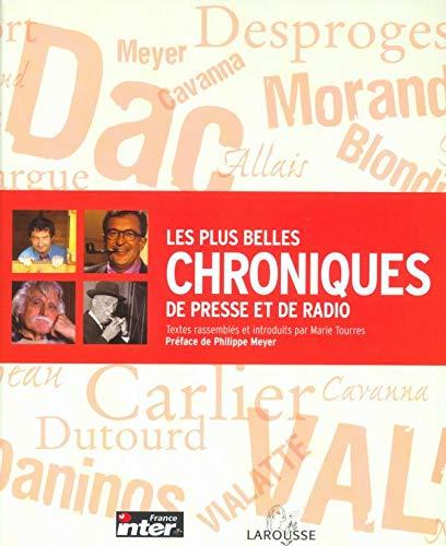 9782035053633: Les Plus Belles Chroniques de presse et de radio