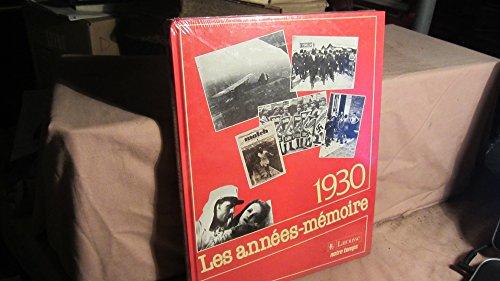 9782035191229: Les Années Mémoire. 1930