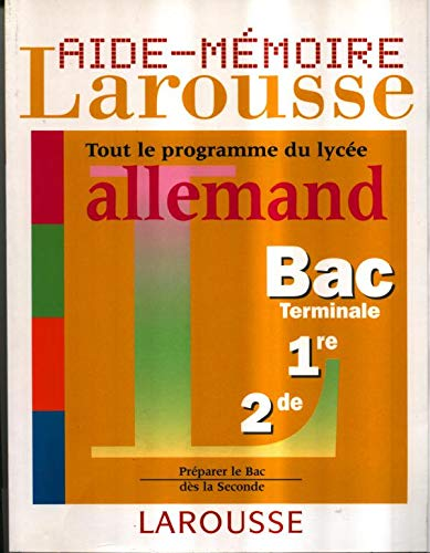 9782035331090: Aide-m�moire lyc�e, allemand