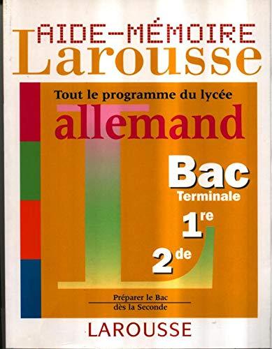 9782035331090: Aide-mémoire lycée, allemand