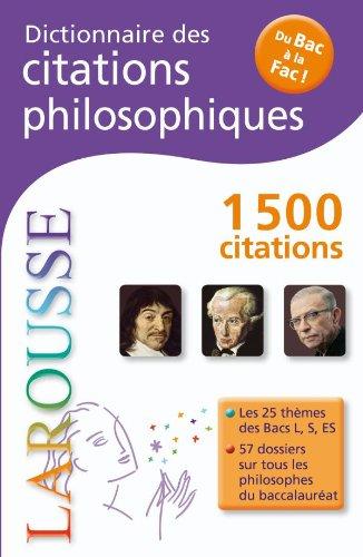 9782035845719: Dictionnaire des citations philosophiques - Du Bac À La Fac