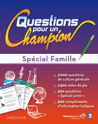 9782035886040: Grand test Questions pour un champion - sp�cial famille