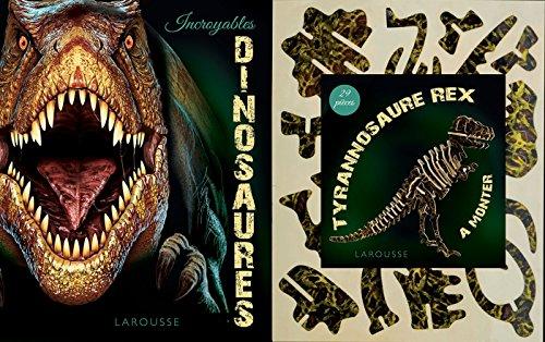 9782035891211: Incroyables dinosaures : Contient : 1 livre et 1 tyrannosaure rex de 29 pièces à monter