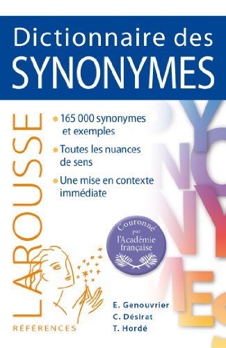 9782035894649: Dictionnaire des synonymes Larousse (French Edition)