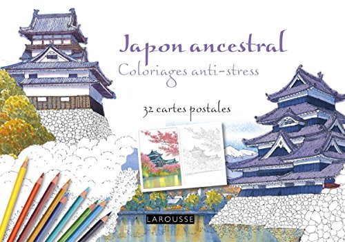 9782035909183: Japon ancestral coloriages anti-stress - 32 cartes postales (French Edition)