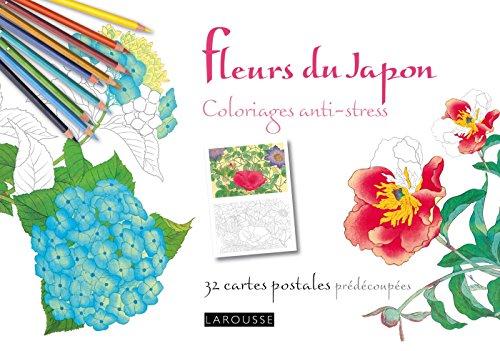 9782035909213: Fleurs du Japon coloriages anti - stress 32 cartes postales (French Edition)