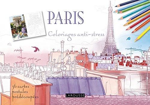 9782035917065: Paris coloriages cartes postales