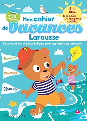 9782035927750: Cahier de jeux de vacances Larousse 3-4 ans