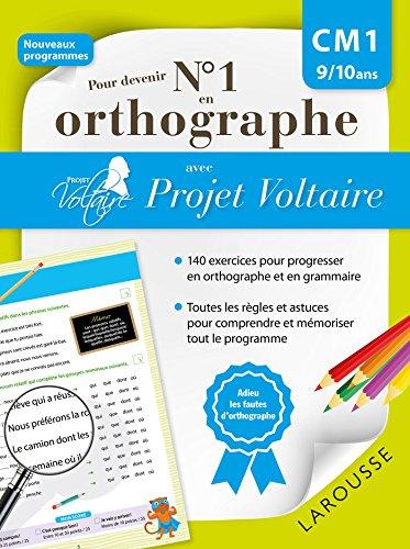 9782035936066: Pour devenir n°1 en orthographe avec Projet Voltaire CM1