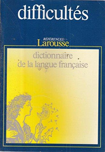 9782037100052: DICTIONNAIRE DES DIFFICULTES DE LA LANGUE FRANCAISE
